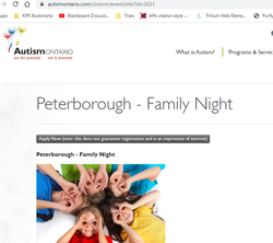 Autism Family information night